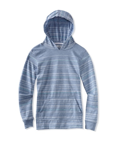 Micros Boys 8-20 Long Sleeve Pullover (Heather Blue)