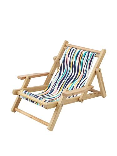 Julie Brown Wooden Reversible Kids Chair (Navy Tiger/Green Harbor)