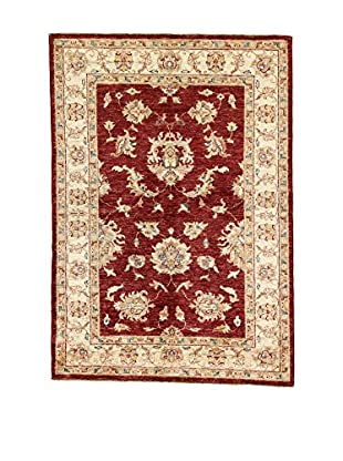 L'Eden del Tappeto Teppich Zeigler rot/beige 140t x t98 cm