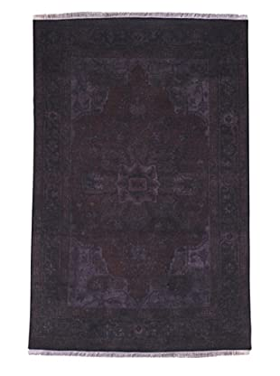 Kavi Handwoven Rugs Tribal Pattern Rug, Purple, 6 'x 9'