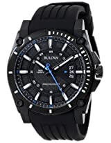 Bulova Precisionist Analog Black Dial Men's Watch - 98B142