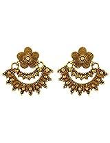 Nakshatra Collection Mehandi Golden Polish Copper Dangle & Drop Earring For Women