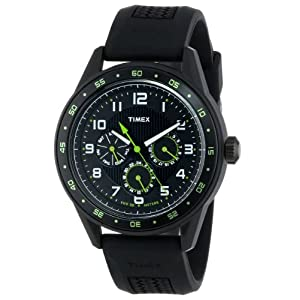 "Timex Men's T2P044KW ""Ameritus"" Watch with Black Silicone Strap"
