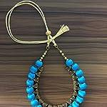 blue bail neck set