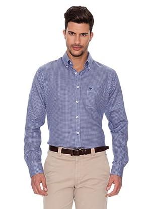 Caramelo Camisa Clásica (Azul Oscuro)