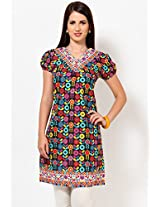 100% Cotton Black Kurti