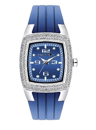 K&BROS 9103-2 / Reloj de Señora con correa de caucho azul
