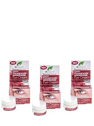 Dr.Organic Set 3 Crema para el Contorno de Ojos de Granada 15 Ml (u)