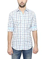 Peter England Men's Slim Fit Shirt (ESF31500146, White, 42)