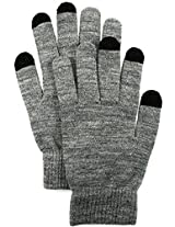 London Fog Men's Touchscreen Gloves, Charcoal Heather, One Size