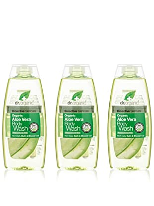Dr.Organic Set 3 Gel de Baño de Aloe Vera 250Ml (u)