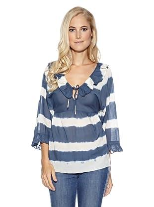 Cream Bluse Evie tie dye (Blau/Weiß)