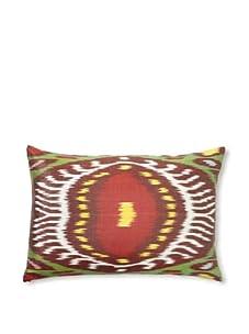 """D. Bryant Archie Uzbek Ikat Pillow, Crimson, 14"""" x 20"""""""