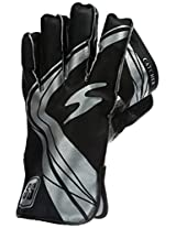 SS Catcher Men's Wicket Keeping Gloves (Black)
