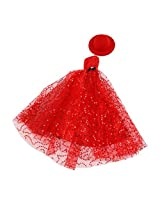 Winomo Barbie Dolls Sequined Strapless Dress With Scarf And Gloves Red
