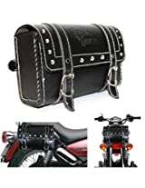 Generic (unbranded) Square Saddle Bag for Royal Enfield (Black, M)
