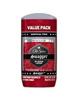 Old Spice Red Zone Collection Invisible Solid Scent Men's Anti-Perspirant and Deodorant, Swagger - 2.6 Oz Ea