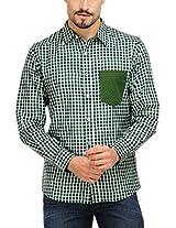 Yepme Men's Multi-Coloured Poly Cotton Shirt- YPMSHRT0341_40