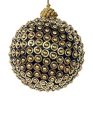 Winward Studded Metal Ornament, Black/Gold