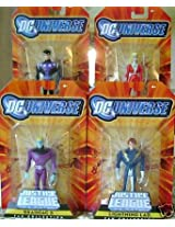 MATTEL 2009 DC UNIVERSE JUSTICE LEAGUE UNLIMITED LEGION OF SUPER-HEROES SET OF 4 SATURN GIRL LIGHTNING LAD BRAINIAC COSMIC BOY