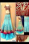 Traditional blue lehenga Indian Designer Party Ethinic Wear wedding girlish lancha