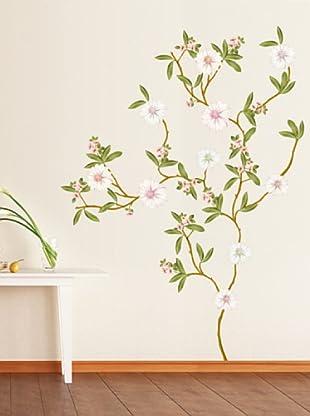 Vinilo Magnolia árbol en flor Multicolores