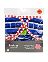 Kushies Swim Diaper, Blue Ahoy Print, Large