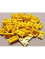 DEAL OF THE DAY!!! DO NOT MISS OUT!x50 NEW Lego Yellow Baseplates 1x2 Brick Building Plates
