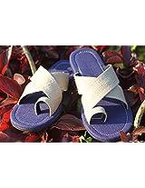 Kurio Blue Criss-Cross Footwear in Blue