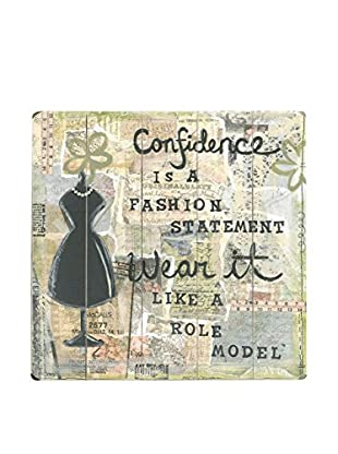 ArteHouse Confidence Is a Fashion Statement Wood Wall Décor, Beige/Black