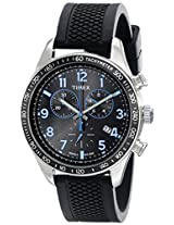Timex Men's Chronograph T2P184 Black Resin Analog Quartz Watch