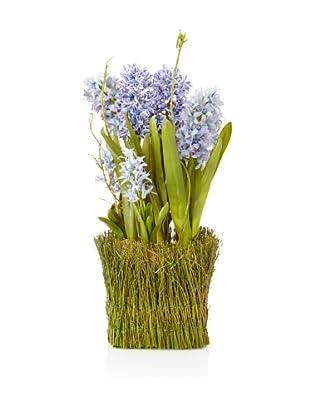 Winward Faux Hyacinth Twig Basket, Multi