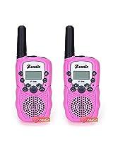 Zeadio Zt 388 Kids Uhf Walkie Talkie, 22 Channel Frs/Gmrs Two Way Radio (Pink 1 Pair)