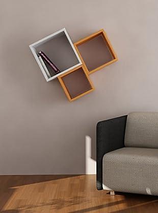 Decortie by Homemania Set 3 Paneles Kutugen Naranja/Blanco