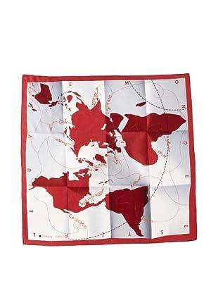 Hermès Women's Le Monde Est Une Fleuve Scarf, Red