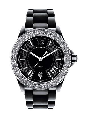 K&BROS 9142-1 / Reloj de Señora  con brazalete metálico negro