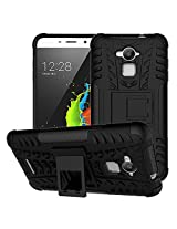 Chevron Tough Hybrid Armor Back Cover Case with Kickstand for Coolpad Note 3 (Black)