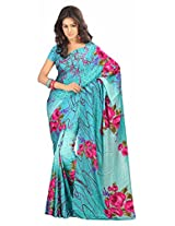 Atisundar Women Faux Georgette Dress Material (6320_46_6802 _Blue _2)