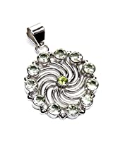 Admyro Contemperory silver Pendant With White Pearl-AZP614