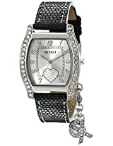 "XOXO Women's XO3089 Black Lizard Strap with ""XO"" Charm Watch"