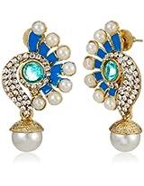 Ava Drop Earrings for Women (Blue) (E-SD-2198)