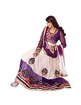 Rozdeal Women Net Salwar Suit Dress Material (Rda101-7001 _Blue _Free Size)