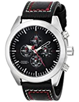 Android Satelgraph AD688AK 48MM Chronograph Analog Black Dial Men's Black Leather Watch