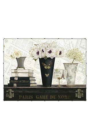 "Kathryn White Paris Gare du Nord Hand-Embellished Canvas, 30"" x 40"""