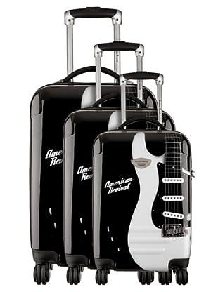American Revival Set 3 Trolleys Guitare (Negro)