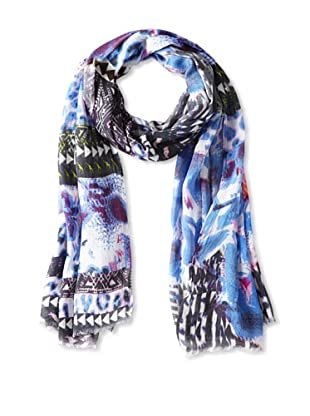 Movement by Juma Women's Turkish Floral Scarf, Blue