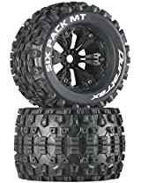 Duratrax Six Pack MT 3.8 Mounted 1/2 Offset Tyre (Set of 2), Black
