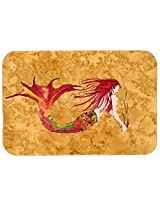Caroline's Treasures 8727JCMT Ginger Headed Mermaid on Kitchen or Bath Mat, 24 by 36 , Multicolor