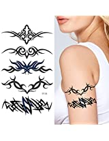 Supperb Temporary Tattoos Art Sticker Tribal Swirls Temporary Tattoo St 26