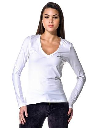 Datch Gym T-Shirt Scollo V (Bianco)